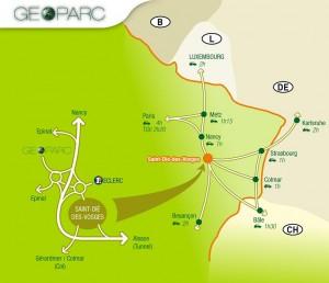 Carte Geoparc stage de pilotage