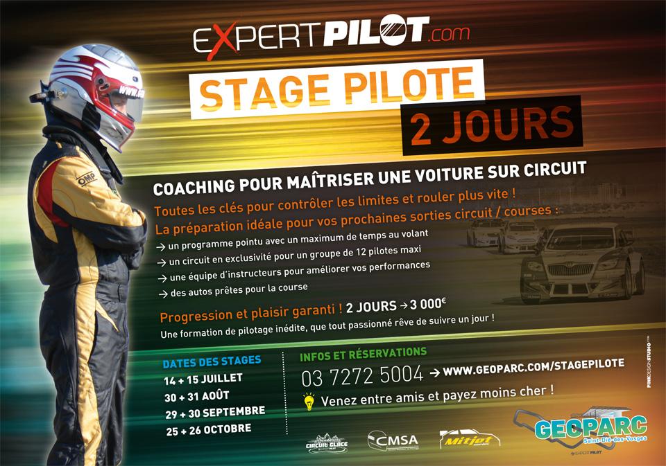 stage de pilotage stage pilote 2 jours Expertpilot sur le circuit geoparc